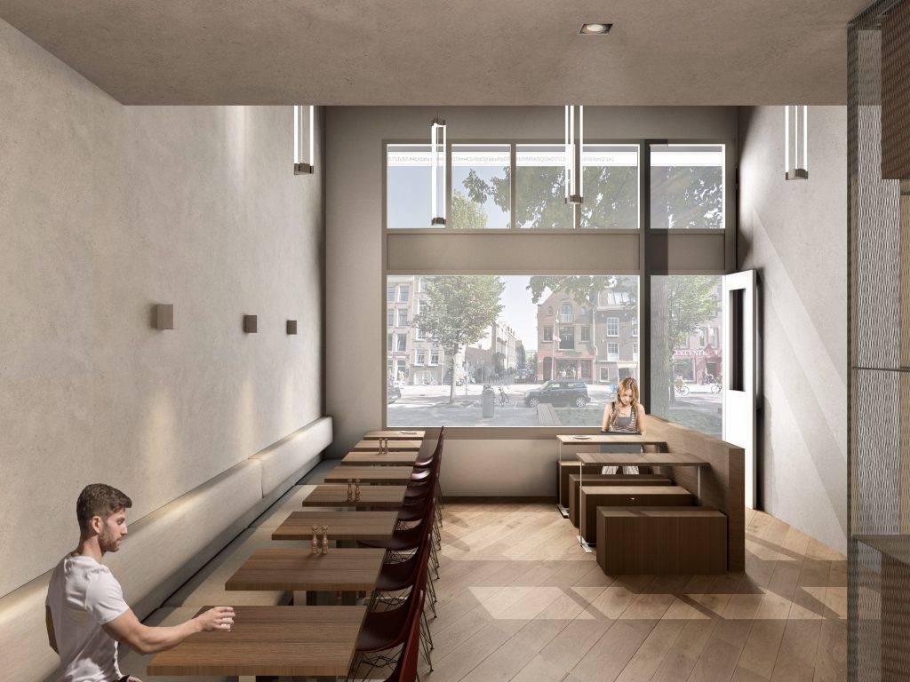 3D visualisatie van een restaurant