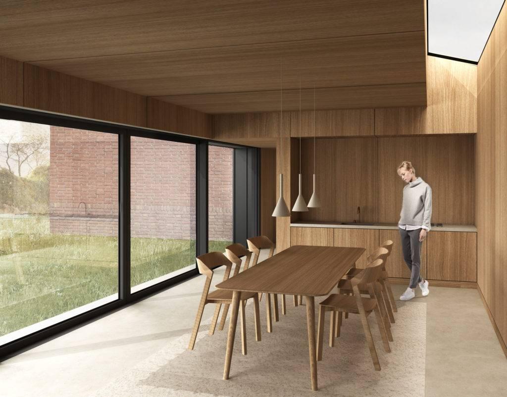3D impressie van interieur ontwerp van een architect