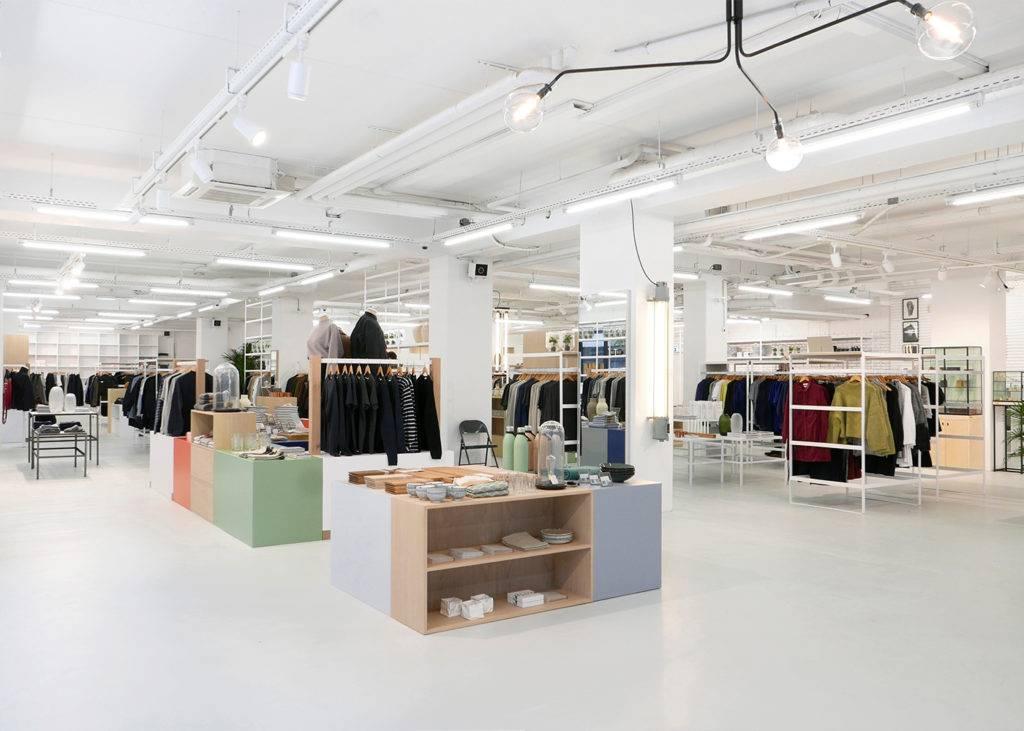 Foto van winkelruimte ontworpen door binnenhuis architect