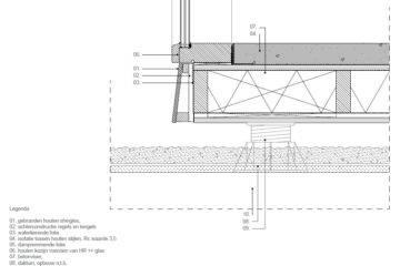 Detail van een bouwkundige tekening van een vloer van een Tiny House gemaakt door een bouwkundig tekenaar