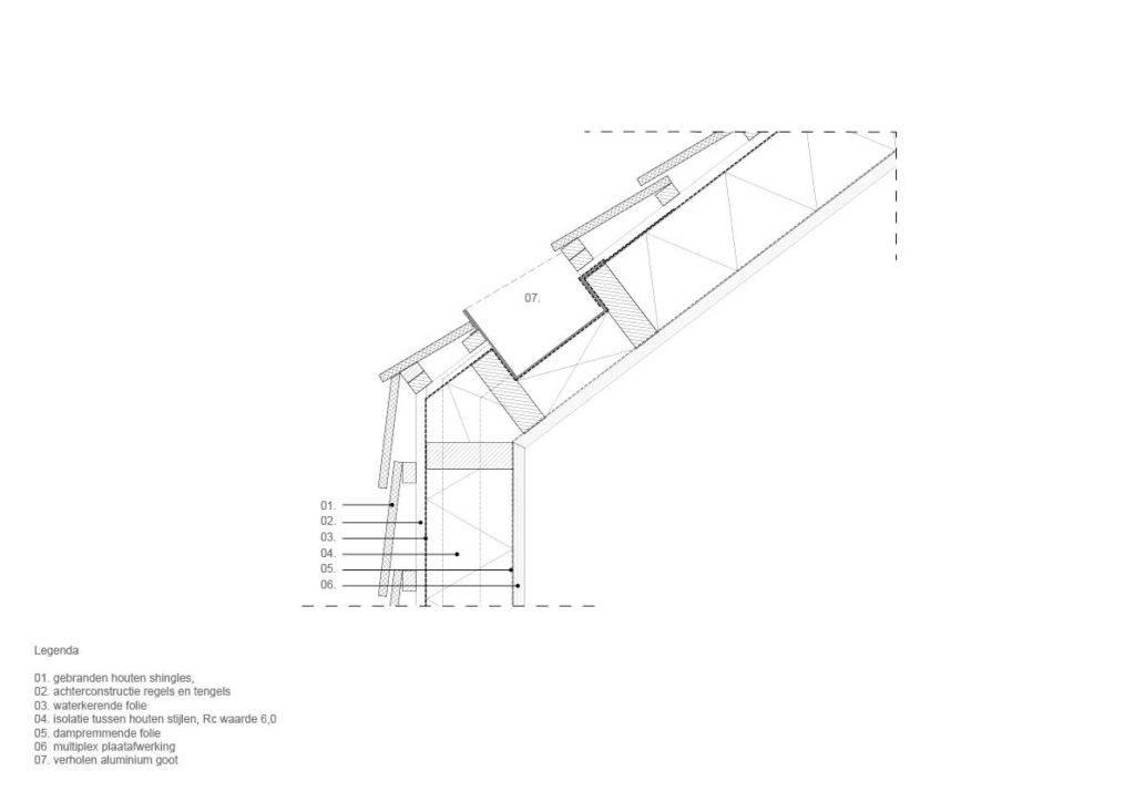 Detail bouwkundige tekening opgezet door Cad tekenaar