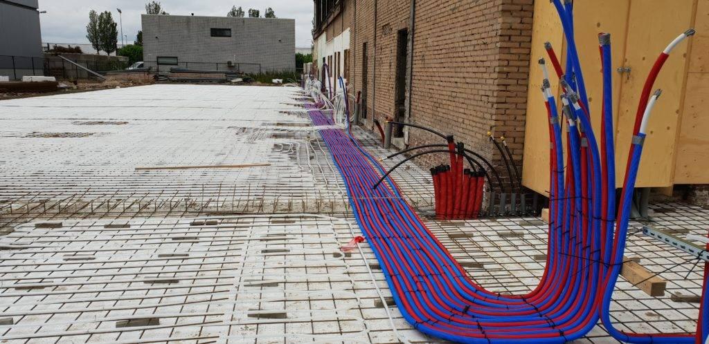 Aanleg van kabels voor gebouw dat valt onder utiliteitsbouw