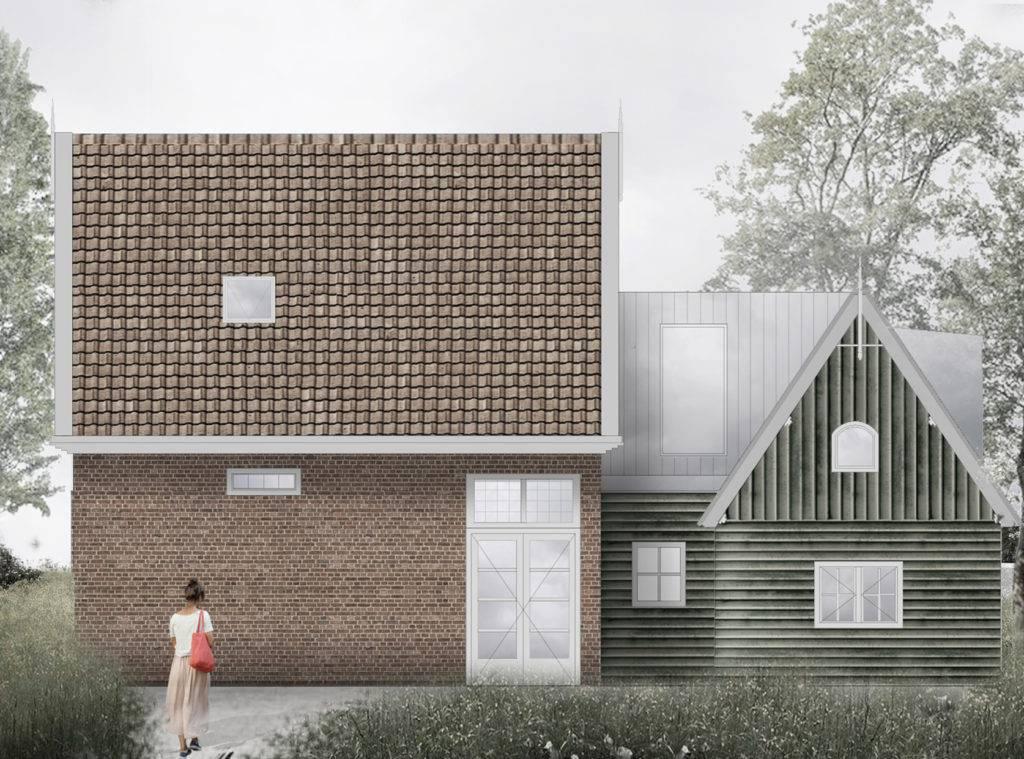 3D visualisatie woning gemaakt door architect renovatie