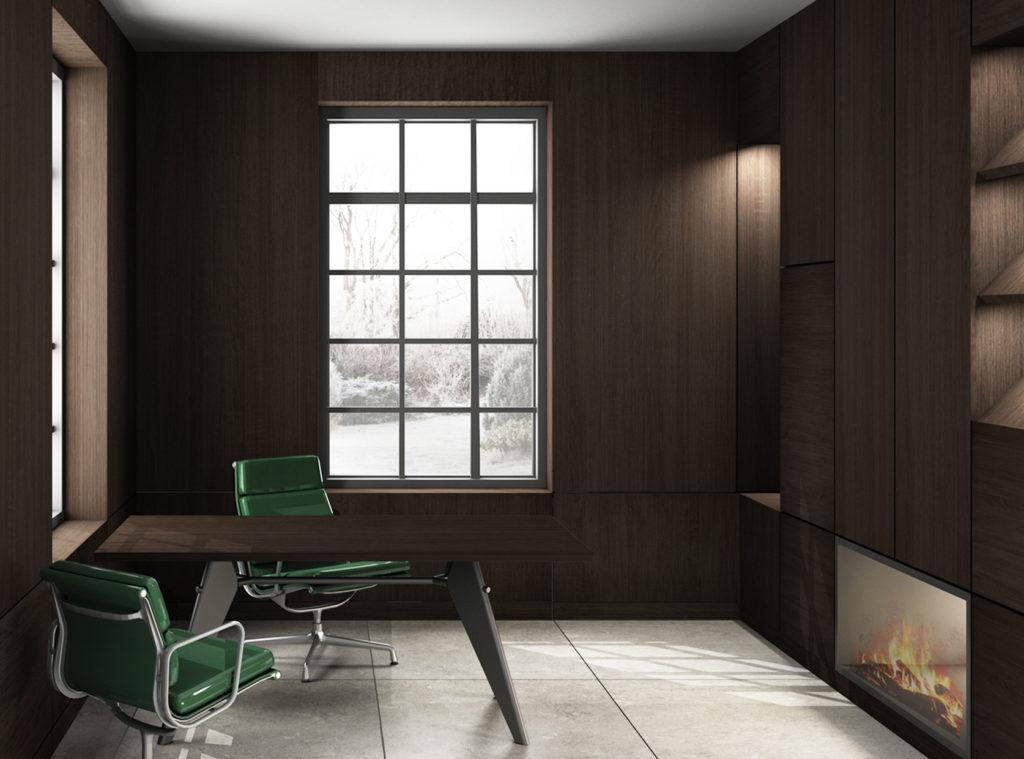 Interieur ontwerp verwerkt in een 3D visualisatie