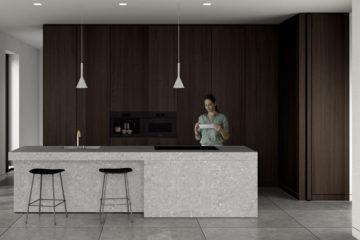 3D impressie van een binnenhuis ontwerp