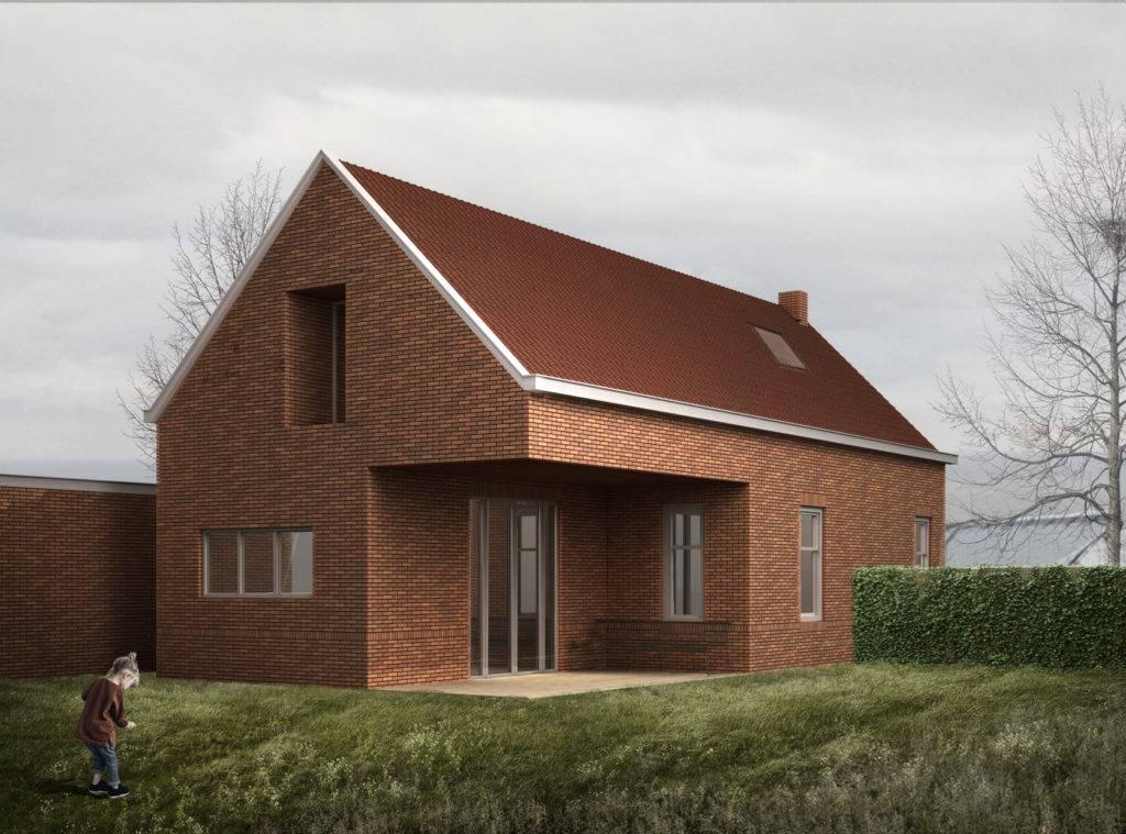 3D visualisatie van een woning ontwerp gemaakt door een architectenbureau