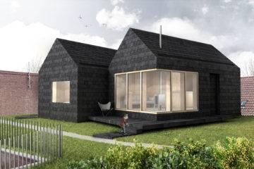 3D visualisatie van een ontwerp van een Tiny House