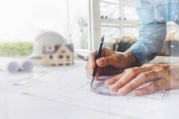 ontwerp van een huis uittekenen