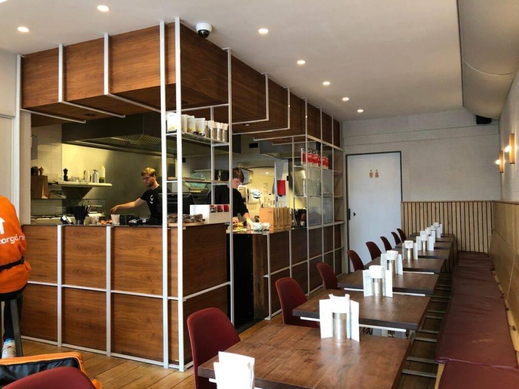 interieur balie hamburger restaurant burgermeester